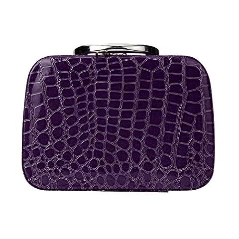 Make-up Tasche, lanowo Fashion Make-up Storage Leder Tasche Case Jewelry