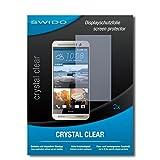 SWIDO Schutzfolie für HTC One M9+ [2 Stück] Kristall-Klar, Hoher Härtegrad, Schutz vor Öl, Staub & Kratzer/Glasfolie, Bildschirmschutz, Bildschirmschutzfolie, Panzerglas-Folie