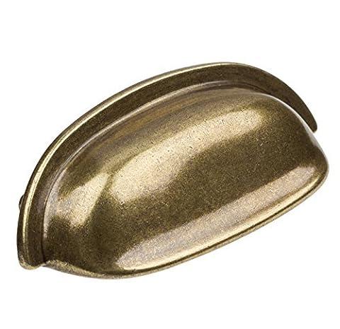 GlideRite Hardware 4081-AB-10 Classic Bin Cabinet Hardware Pull, Small, Antique Brass by GlideRite Hardware