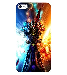 ColourCraft Flaming Warrior Design Back Case Cover for APPLE IPHONE 4S