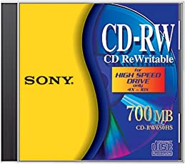 Sony CD-RW CD ReWritable, for High Speed Drive (Discontinued by Manufacturer)