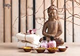 Fototapete Buddha in der Meditation S 200 x 140cm - 4 Teile Vlies Tapete Wandtapete - Moderne Vliestapete - Wandbilder - Design Wanddeko - Wand Dekoration wandmotiv24