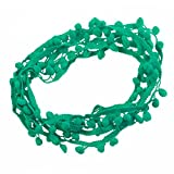 maDDma  3m Bommelborte, 20mm breit Pomponborte Bommelband Pompon Band, Farbwahl, Farbe:grün