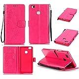 Chreey Coque Huawei P9 Lite / P9 mini (5.2 pouces) (Solid color - papillon - impression),PU Cuir Portefeuille Etui Housse Case Cover ,carte de crédit Fentes pour ,idéal pour protéger votre téléphone