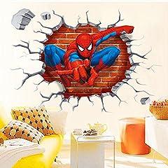 Idea Regalo - Kibi Spiderman Adesivo Muro Spiderman Adesivo da Parete Spiderman Adesivi Murali Spiderman Stickers Muro Spiderman Stickers Muro Uomo Ragno
