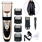 Golden 1 : EBasic Professional Electric Cordless Hair Clipper Set, Rechargeable Hair Grooming Trimmer Blades,...