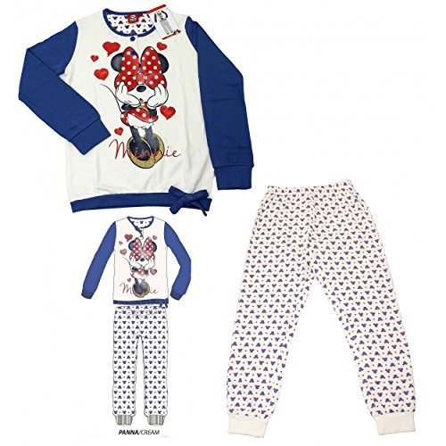 Pyjama pour fille Disney Minnie pur coton interlock mesures 3 – 4-5 – 6-7 ans 22810 Multicolore