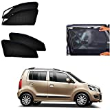 #2: Casotec Magnetic Foldable Window Sun Shades for Maruti Suzuki Wagon R (2012 to 2018) - Set of 4 - with Zipper