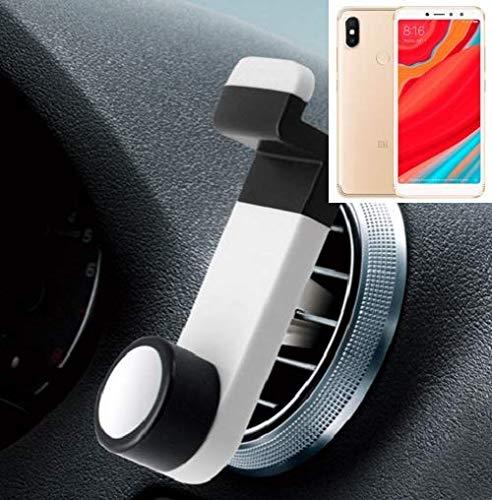 Smartphone universal Holder Holder / Car montaje / parabrisas para el Xiaomi Redmi S2. blanco. Titular de teléfono de la rejilla de ventilación se puede utilizar con los teléfonos inteligentes y