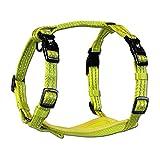 Alcott 1272-HNS PW Geschirr für Hunde kräftiges Nylon in neon-gelb einfaches An- und Ablegen Zwei D-Ringe, reflektierende Akzente, Mesh-Polsterung S, 25-35 cm