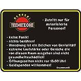 Rahmenlos® Fun Schild - Teeniezone Zutritt nur..Teenie Teenager