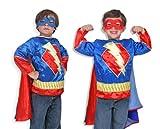 Melissa & Doug 14788 - Superhero-Kostüm, Einheitsgröße, blau