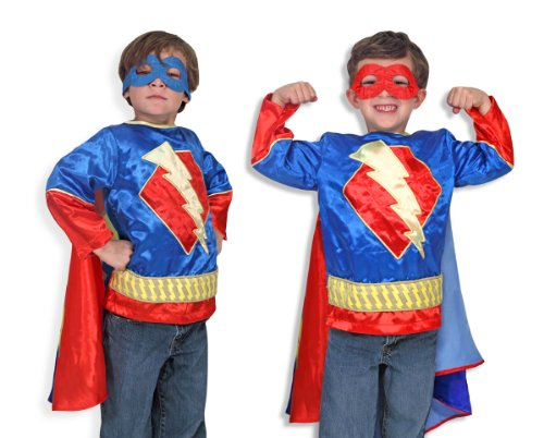 Melissa & Doug 14788 - Superhero-Kostüm, Einheitsgröße, (Bösewichte Kostüme Top)