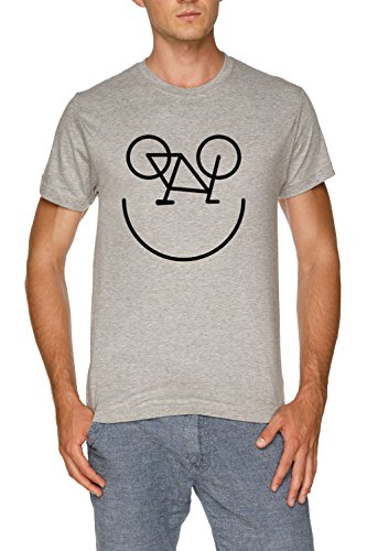 Jergley Bicicleta Smiley Camiseta Gris Hombre Tamaño L | Men's Grey T-Shirt Size L