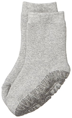 Sterntaler Unisex - Baby Socken Fli Fli Soft Uni, Einfarbig, Gr. 18 (Herstellergröße: 17/18), Grau (Silbe Melange 542)