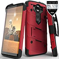 LG V10 Case, Zizo [Bolt Series] with FREE [LG V10 Screen Protector Crystal Clear] Kickstand (Chicago Bolt)