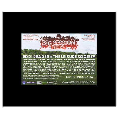 BIG SESSION FESTIVAL - 2012 - Eddi Reader Matted Mini Poster - 21x13.5cm