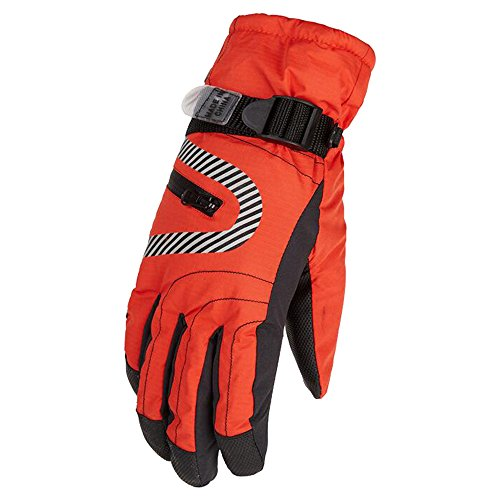 Eastlion Winter Winddicht Wasserdicht Draussen Thickering Reiten Skifahren Handschuhe für Kinder und Frauen,Farbe 1,Kinder M/L | 06654540412324