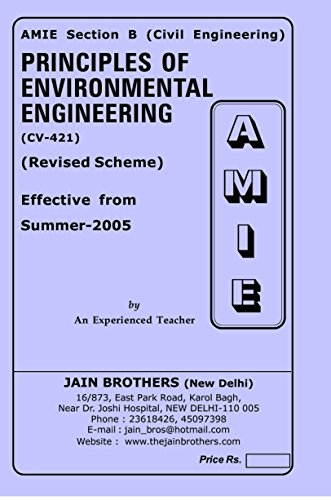 AMIE Principles of Environmental Engineering CV-421 Solved Paper