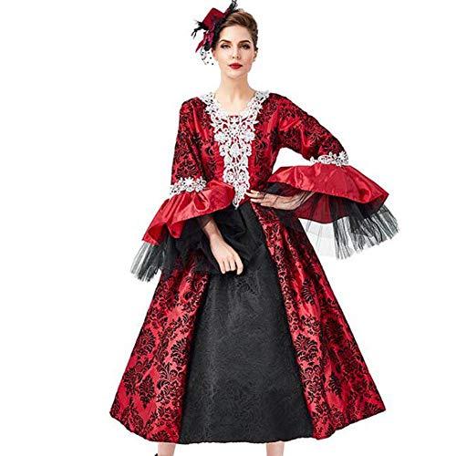 QWE Halloween-Kostüme, Vampir-Kostüme, Maskeradenkleider, Retro-Gerichtskleider, Kostüme für Erwachsene (Süße Vampir Kostüm)