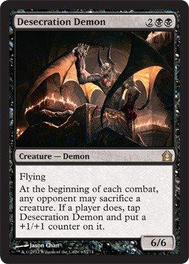 Magic: the Gathering - Desecration Demon - Demone della Profanazione - Return to Ravnica