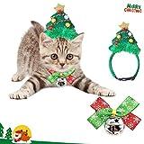 Lapus Katze Hund Weihnachtsmütze und Cat Dog Bow Tie Collar für Weihnachten