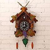 Wall Clock WERLM Persönlichkeit Design Home Decor Kunst Uhr Hirschkopf Deko Wanduhr Kuckuck Fenster Sanduhr Wanduhr 20 Zoll Ideal für Home Küche Büro Schule Ideal für jedes Zimmer, B
