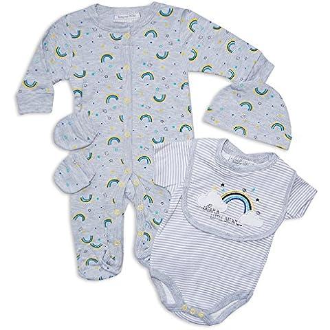 5piezas bebé niños niñas unisex ajuar Outfit Set sueño un poco Adhesivos en color gris por Bonjour Bebe