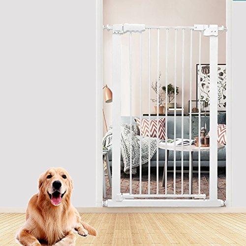 Extra-hohes Haustier-Tor Für Hunde-Katzen-Extra Breite Baby-Sperre Für Eingangswohnungen Treppen-Halle Weiß-Metallinnensicherheits-Tore 61-168cm Weit (größe : 134-144cm) (Die Tore Weit Hund)