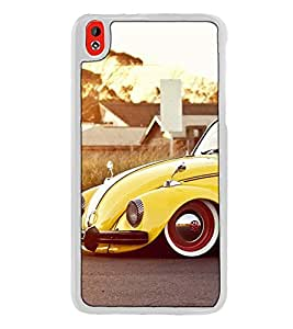 Fuson Designer Back Case Cover for HTC Desire 816 :: HTC Desire 816 Dual Sim :: HTC Desire 816G Dual Sim (bunglow garden headlights luxury tyre)