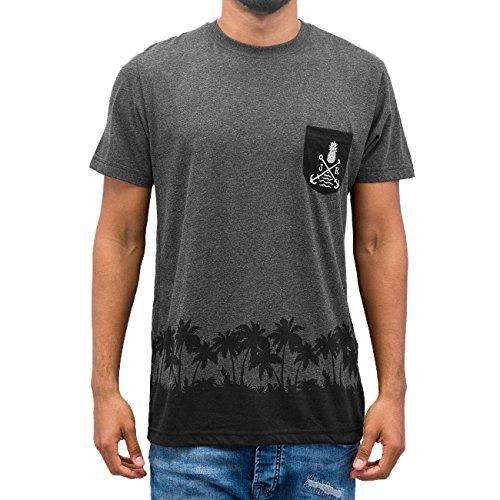 Just Rhyse Uomo Maglieria / T-shirt Beach Grigio
