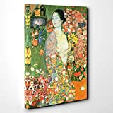 BIG Canvas Print 30 x 20 Inch (76 x 50 cm) Gustav Klimt The Dancer - Canvas Wall Art Picture Ready to Hang