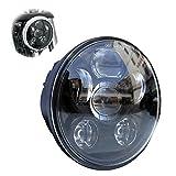 Locisne 5-3 / 4 '5.75' Daymaker faro proiezione rotonda LED per Harley Davidson Kickfaire motociclo luci del proiettore 45W 9 lampadina LED Lampada frontale Lampada in alluminio