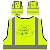 Alles, was ich mir zu Weihnachten wünsche Personalisierte High Visibility Gelbe Sicherheitsjacke Weste t831v