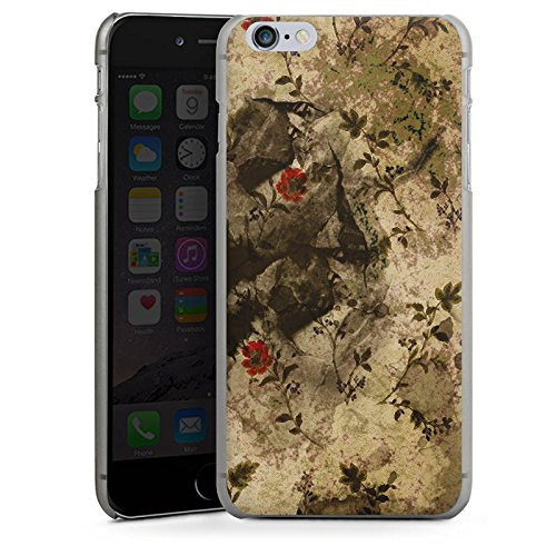 Apple iPhone X Silikon Hülle Case Schutzhülle Vintage Muster Blumen Hard Case anthrazit-klar