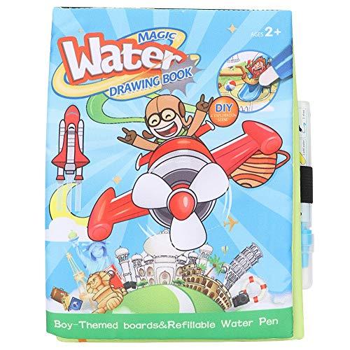 Tnfeeon Wasser Aquarell Malbuch, Cartoon Wasser Aktivität Magic Water Books pädagogische Zeichnung Färbung Malerei Doodle Tuch Buch mit Wasser Stift für Kinder Kleinkinder(Junge) (Färbung Bücher Für Jungen)