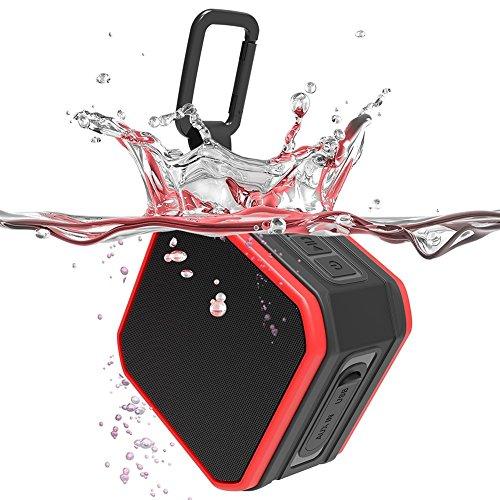 Altavoz Bluetooth Portatiles para la Ducha, IPX7 Impermeable, Bluetooth 4.2 y AUX, Mini Altavoces para el Exterior y Deporte al aire libre, 5W Estéreo, Llamadas Manos Libres, VEHEMO SP-C1
