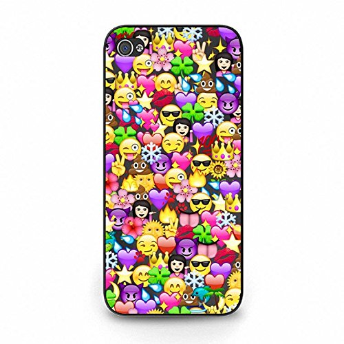 Emoji Iphone 5c Case Cool Smiley Faces Emoji Phone Case Cover for Iphone 5c Emoticons Funky Design Color155d