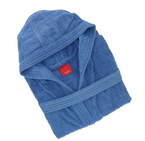 Gabel 09900 23 accappatoio adulto, 100% cotone, blu, xxxl