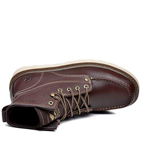 Insun Herren Stiefel Winter Boots Winterstiefel Schuhe Dunkelbraun