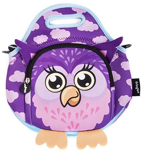 b979a49c8de0 (Owl) - FRINGOO Kids Lunch Bag Neoprene Thermal Insulated Zipped Pocket  Shoulder Strap Nursery