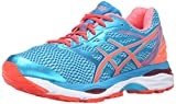Asics Gel Cumulus 18, Damen-Laufschuhe, Aquarium/Flash Coral/Blue Jewel, 2A, Gr. 39.5