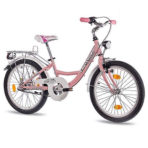 CHRISSON 20 Zoll Kinderfahrrad Mädchen - Relaxia 3.0 rosa - Mädchenfahrrad mit 3 Gang Shimano Nexus Nabenschaltung - Fahrrad für Kinder zwischen 5-9 Jahre und 1,15m bis 1,40m Körpergröße