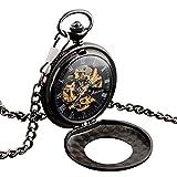 Rosepoem Retro orologio da taschino al quarzo liscio Orologio da tasca Orologio meccanico classico Numeri romani per uomini donne