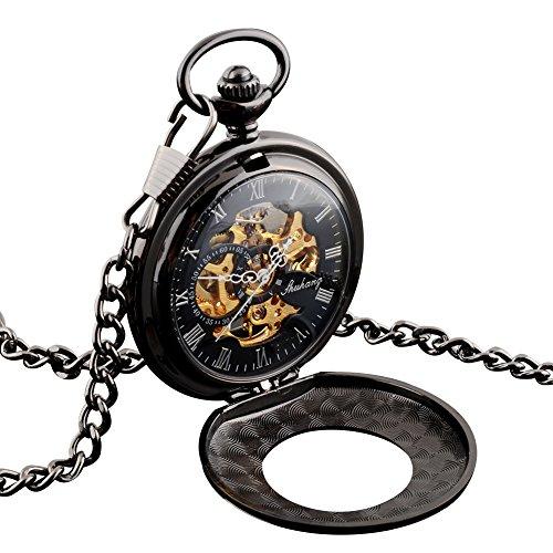 rosepoem retro smooth quartz pocket watch pocket watch classic mechanical watch roman numerals for men women