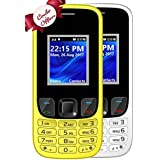 I KALL K29 Dual Sim Mobile Combo Of Two With 1800 MAh Battery Capacity Basic Feature Mobile Phone- White & Yellow