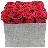 ETERNAL ROSES, konservierte Rosen XL Red in Geschenkbox