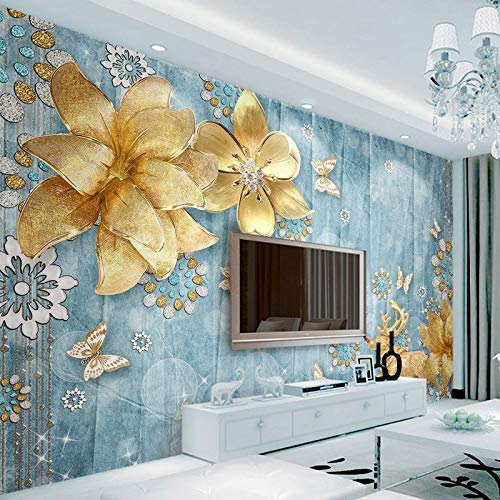YBHNB Handgemalte 3D Farbe Schmetterling Schlafsofa Tv Hintergrund Wandmalereien Wallpaper-200X140Cm - Stoff-schlafsofa