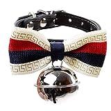 QINCH Pet Dog Tie einstellbar Hundehalsband Pet Fliege mit großen Glocke Halsbänder für Welpen Kragen Pflege Zubehör-S (Size : C)