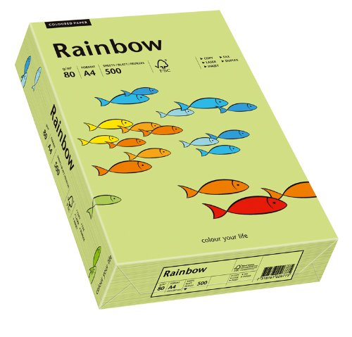 Schneider Papyrus 88042607 Drucker-/Kopierpapier farbig: Rainbow 80 g/m ² DIN-A4, 500 Blatt Buntpapier, Matt, leuchtend grün